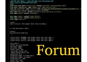 Creare forum