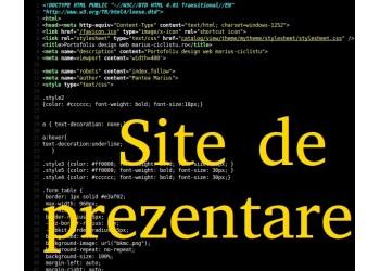Creare site web de prezentare